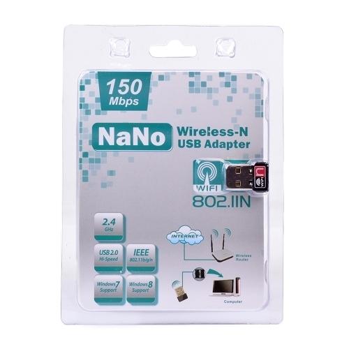 ADAPTADOR USB2.0 A RED INALAMBRICA 802.11BGN 150MBPS PL-7601 ULTRA MINI