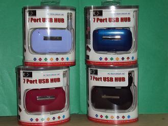 HUB 7 PUERTOS USB2.0 LUJO EMPAQUE RETAIL NEGRO DX-ET3620BK