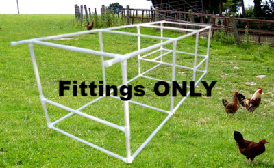 Flat Top 3 foot X 9 foot Chicken Coop (FITTINGS ONLY)