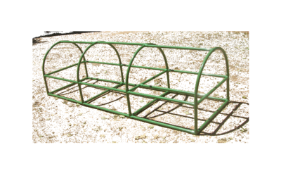 Arched 3 feet X 9 feet Chicken Coop (Green)