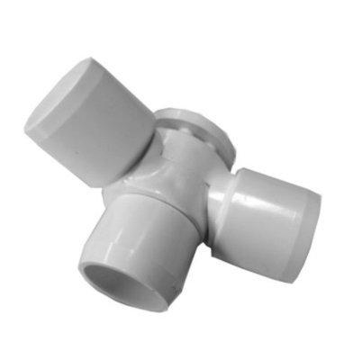 Adjustable 3-Way PVC Ell 3/4