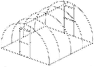 Arched Greenhouse 1-1/4 inch (FITTINGS & CLAMPS ONLY)