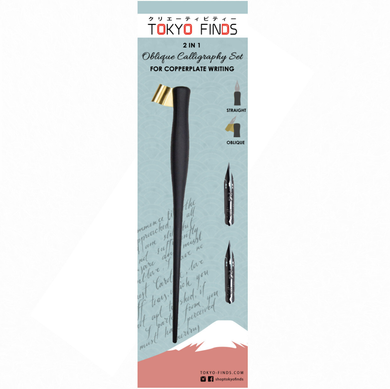 Tokyo Finds Oblique Calligraphy Holder and Nibs