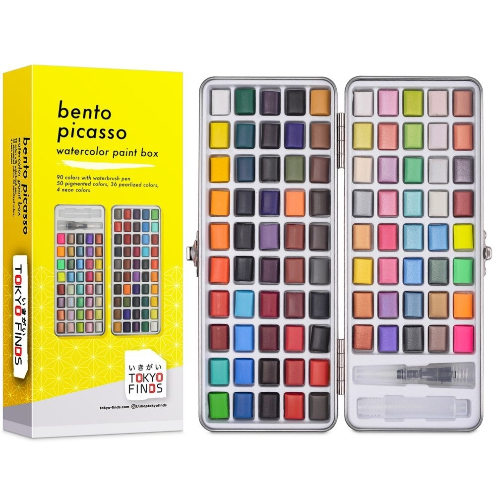 New Tokyo Finds Bento Picasso Set of 90 Watercolor Set