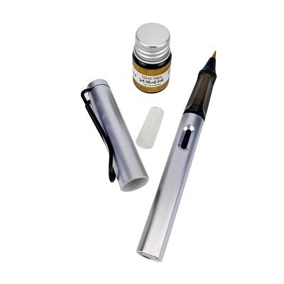 [New] Tokyo Finds Tori Brush Pen Silver (Premium Metallic)