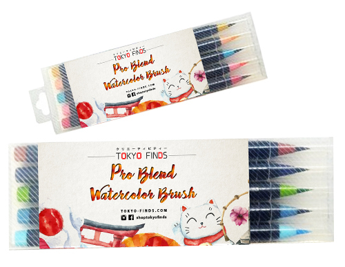 Tokyo Finds Pro Blend Calligraphy Watercolor Brush Pens