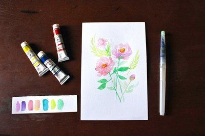 LaunchBox : Watercolor Florals by Avin (Digital)
