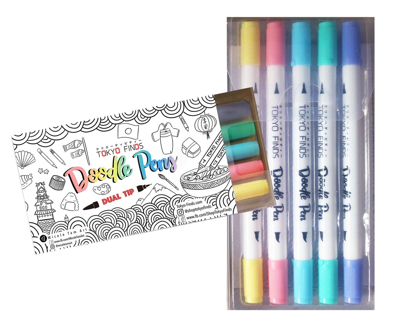 Tokyo Finds Doodle Pen Set - Pastel Perfect