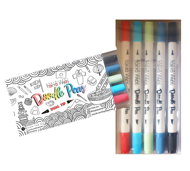 Tokyo Finds Doodle Pen Set - Aquarelle