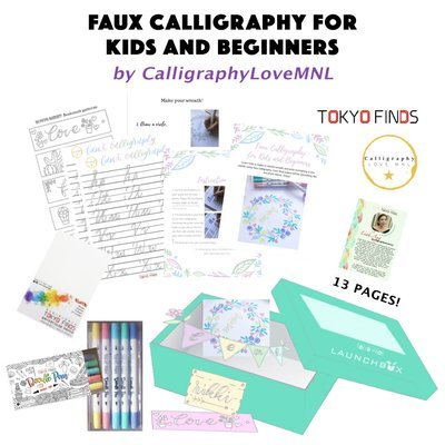 Tokyo Finds Faux Calligraphy for Kids and Beginners by CalligraphyLoveMNL (Digital)