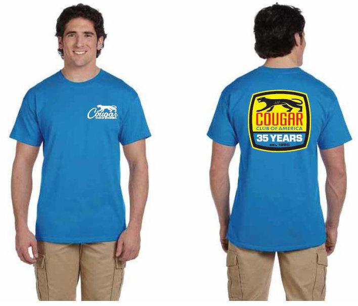 Cougar Club 35th Anniversary Blue Shirt
