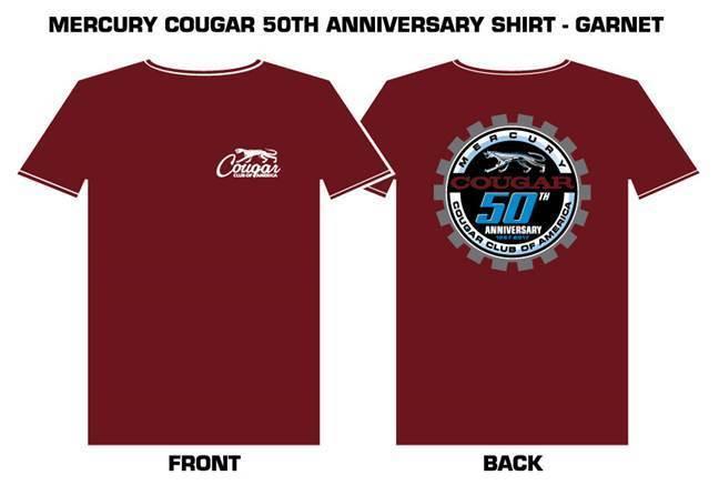 Cougar 50th Anniversary Garnet T- shirt