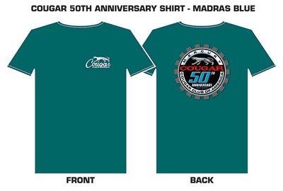 Cougar 50th Anniversary Madras Blue T-shirt