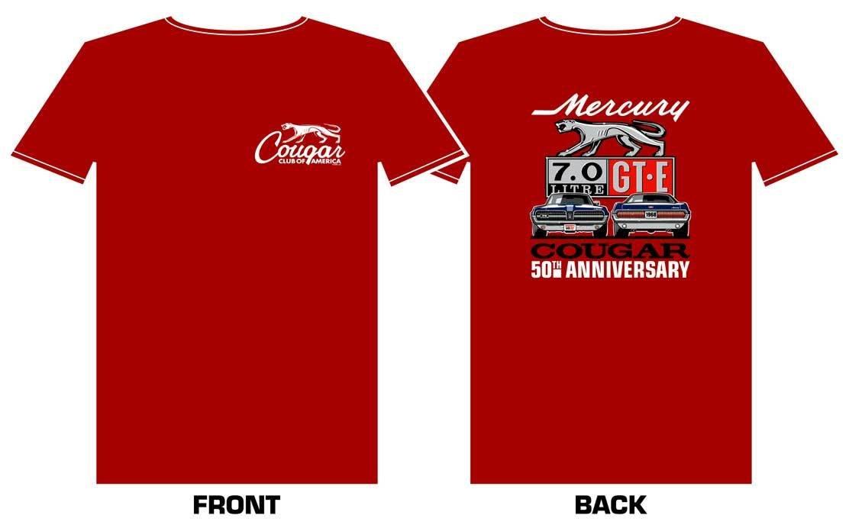 1968 Cougar GT-E 50th Anniversary Shirt