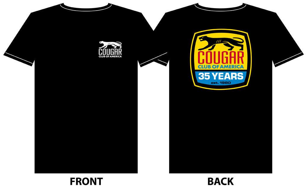 Cougar Club 35th Anniversary Black Shirt