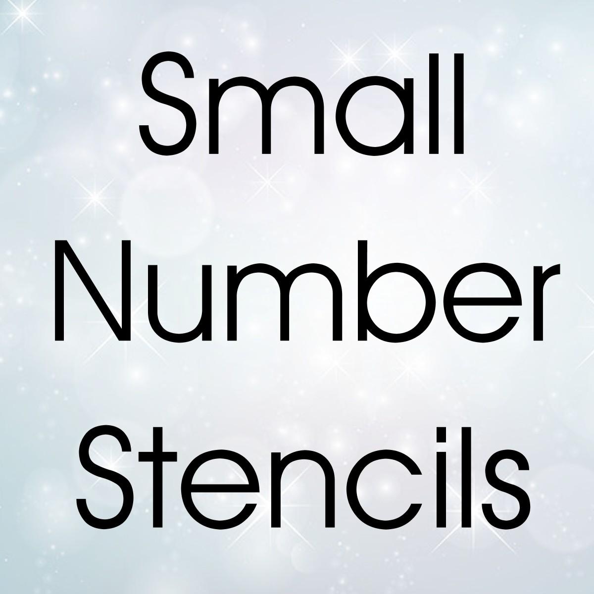 SMALL Numbers - Bulk Stencils