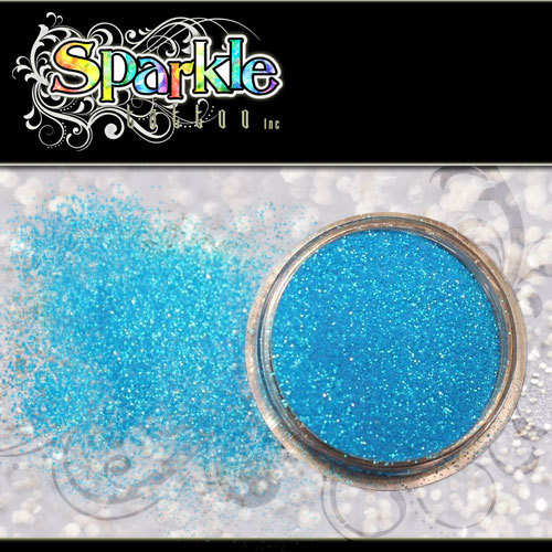 Neon Blue Glitter