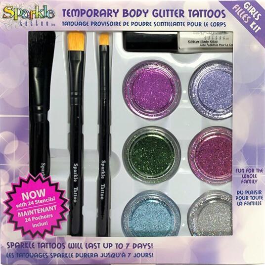 Girl Glitter Tattoo Party Kit