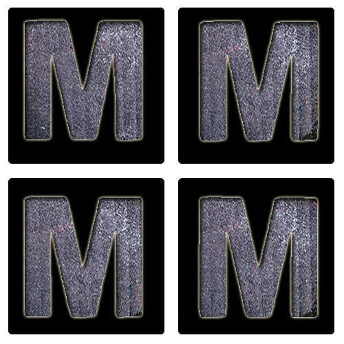 Letter M Stencil