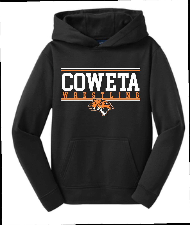 CowetaYouthWrestling - Sport-Tek® Youth Sport-Wick® Fleece Hooded