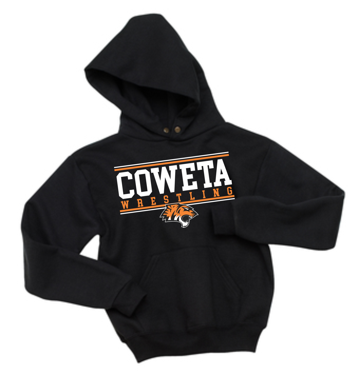 CowetaYouthWrestling - JERZEES Youth NuBlend Pullover Hooded Sweatshirt