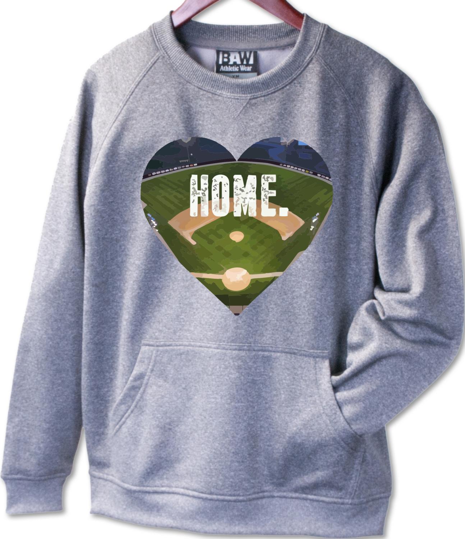 "F300 Adult Pullover Crewneck Sweatshirt ""HOME"" - CowetaHSBaseball2020"