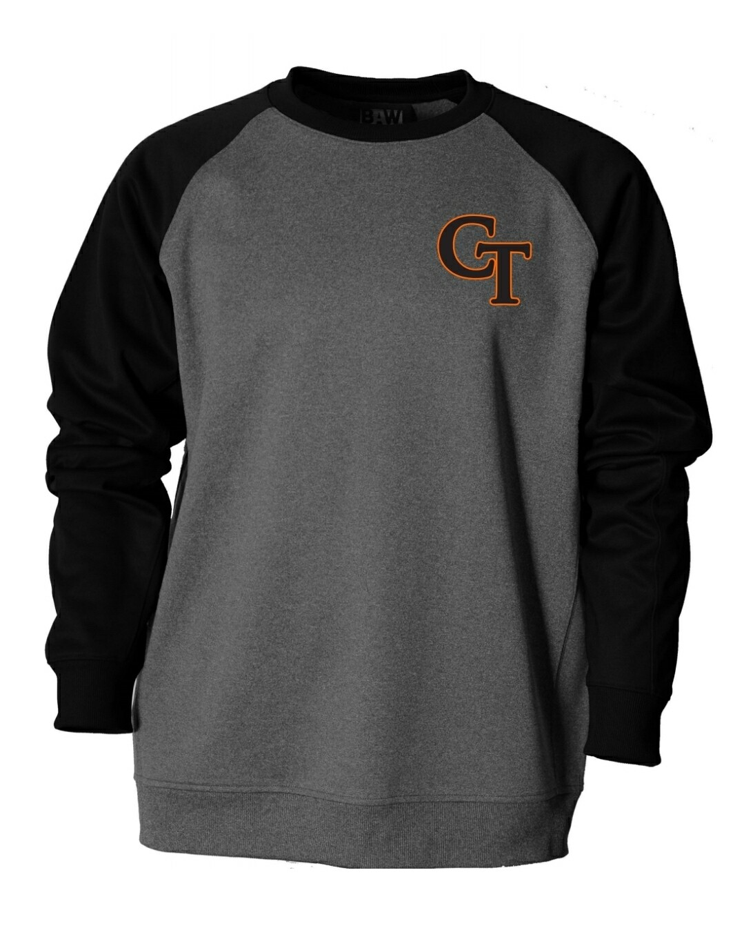 F270  Men's Raglan Crewneck Fleece