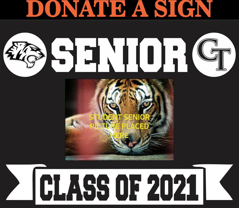 DONATE Senior Yard Sign