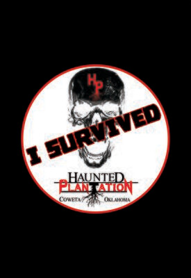 """HAUNTED PLANTATION ~ """"I SURVIVED"""" Stickers [Opt 2]"""
