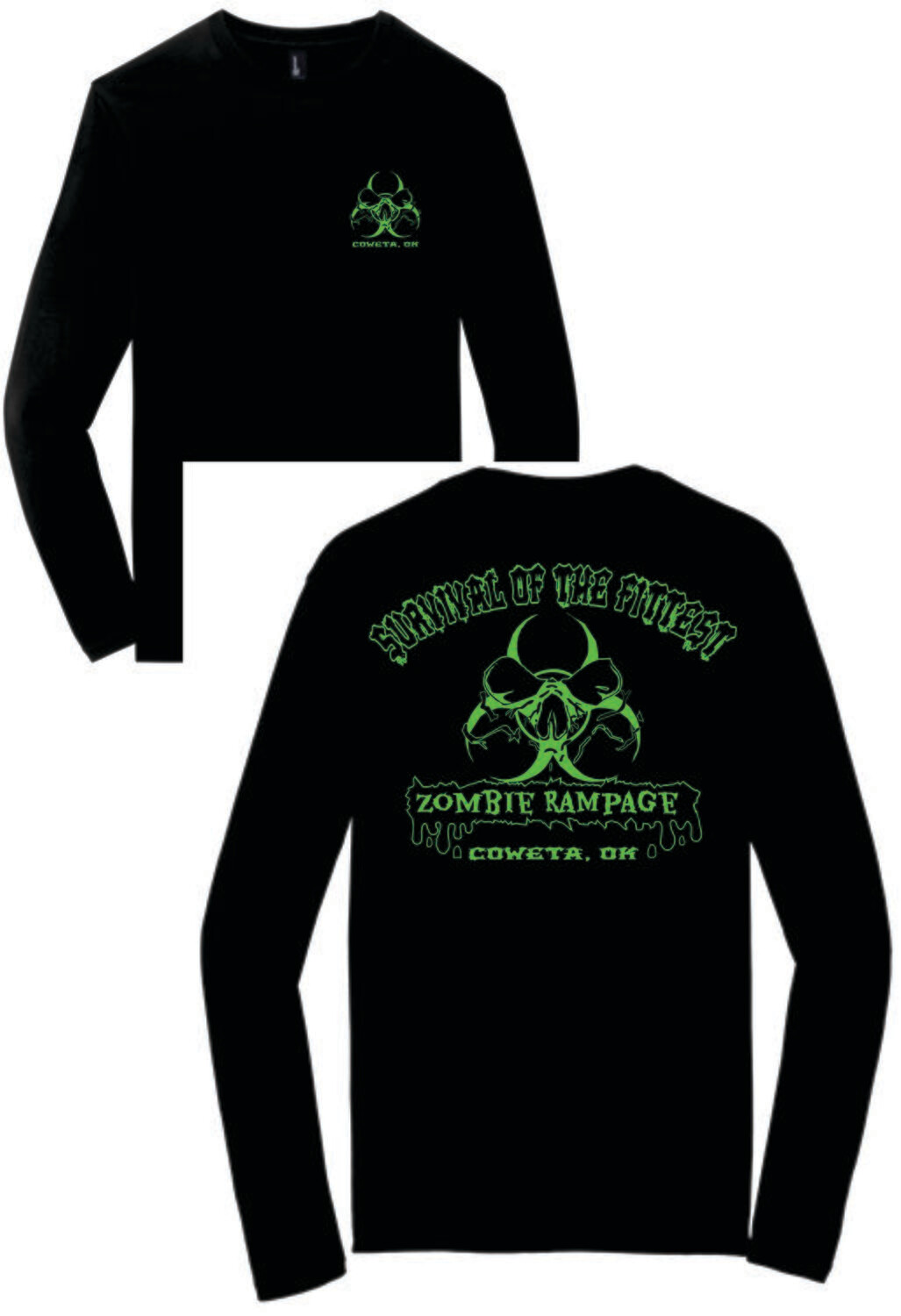 ZOMBIE RAMPAGE ~ DT6200 - District ® Very Important Tee ® LONG SLEEVE
