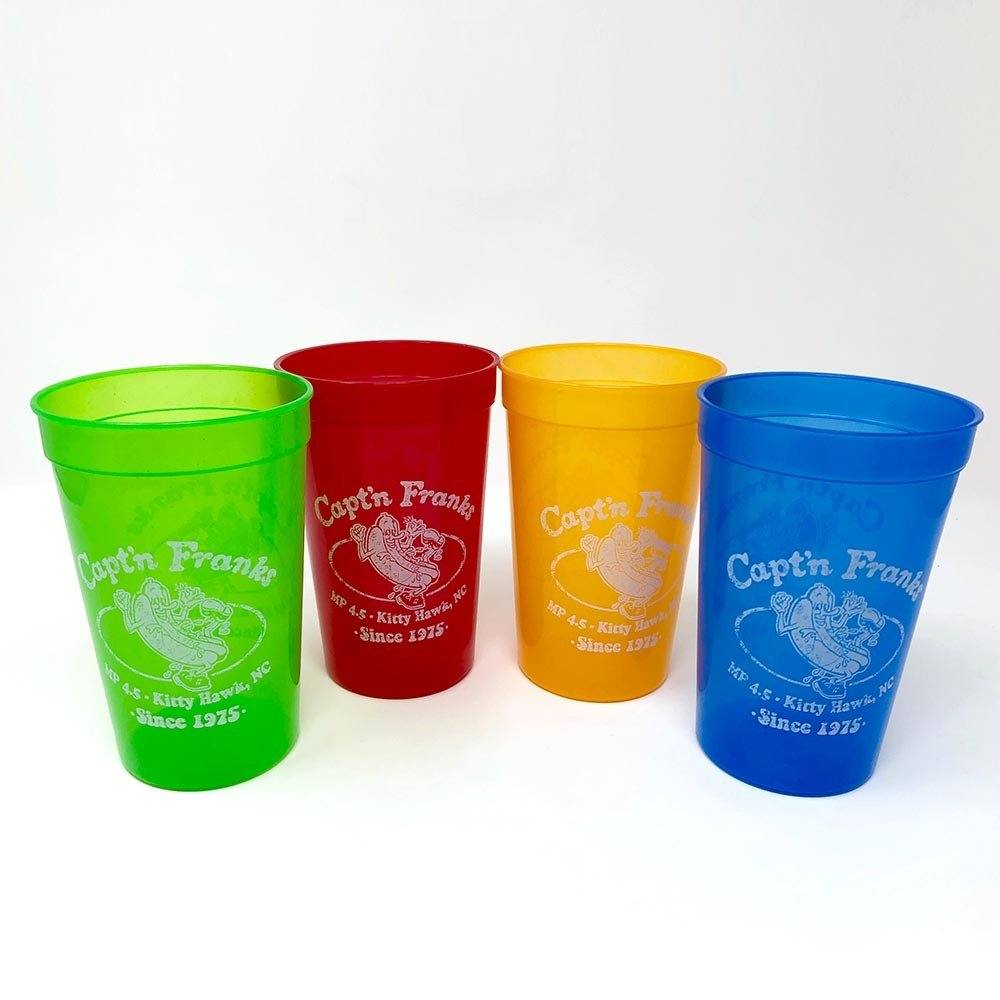 Capt'n Franks Party Cups- Packs of Four or Six