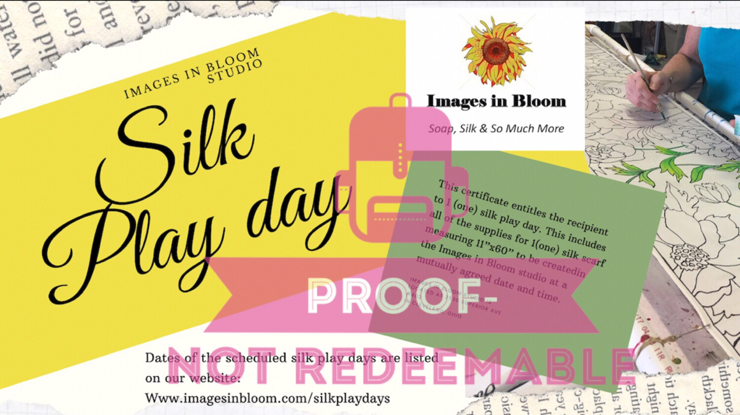 Silk Play Day certificate