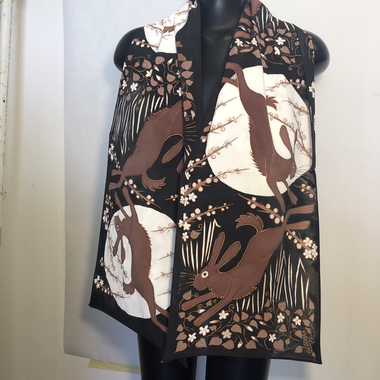 Leaping Brown Rabbits Scarf