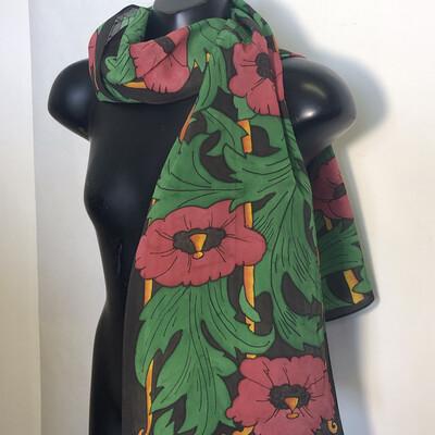 Art Nouveau Poppies Scarf