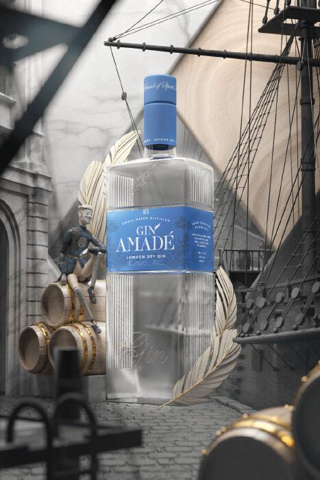 Gin Amade' London Dry Gin 0,7lt.