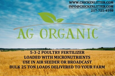 Business Card Size Ad Organic Matters - Quarterly Newsletter