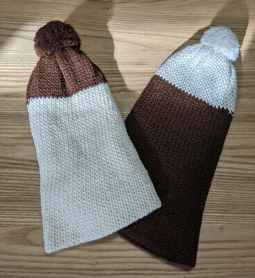 Slouchy Toque two-toned