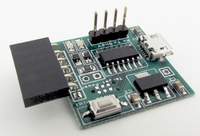 USB to 3.3V serial interface with PIC32 programming capability