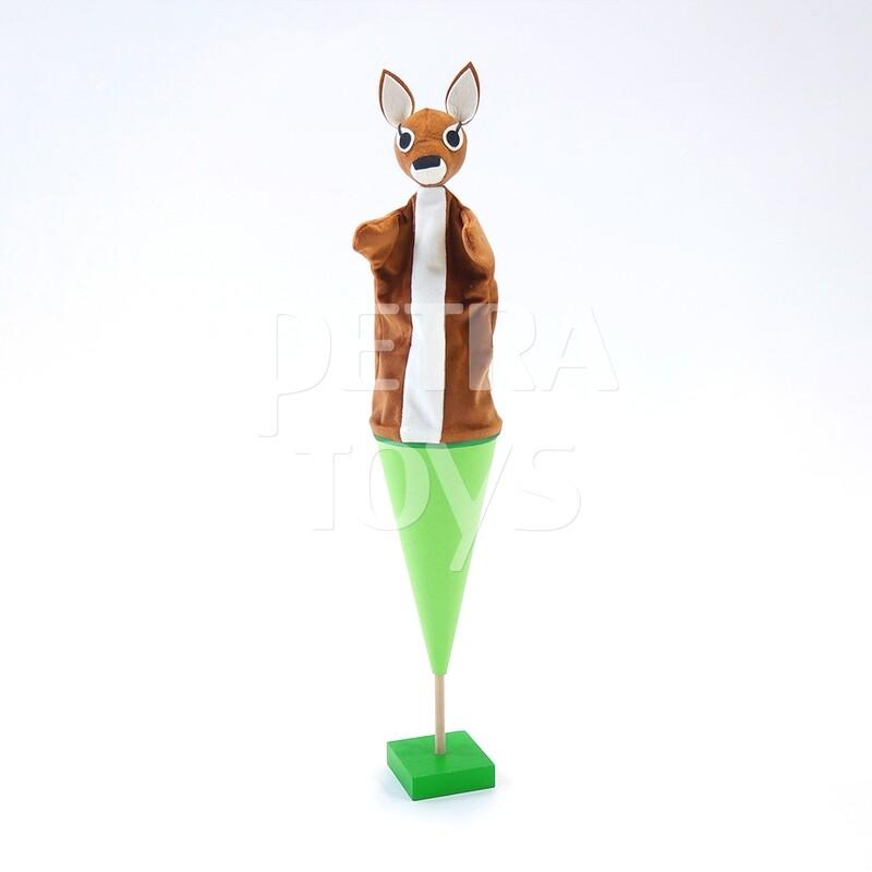 Peek-a-Boo Baby Deer Cone Puppet