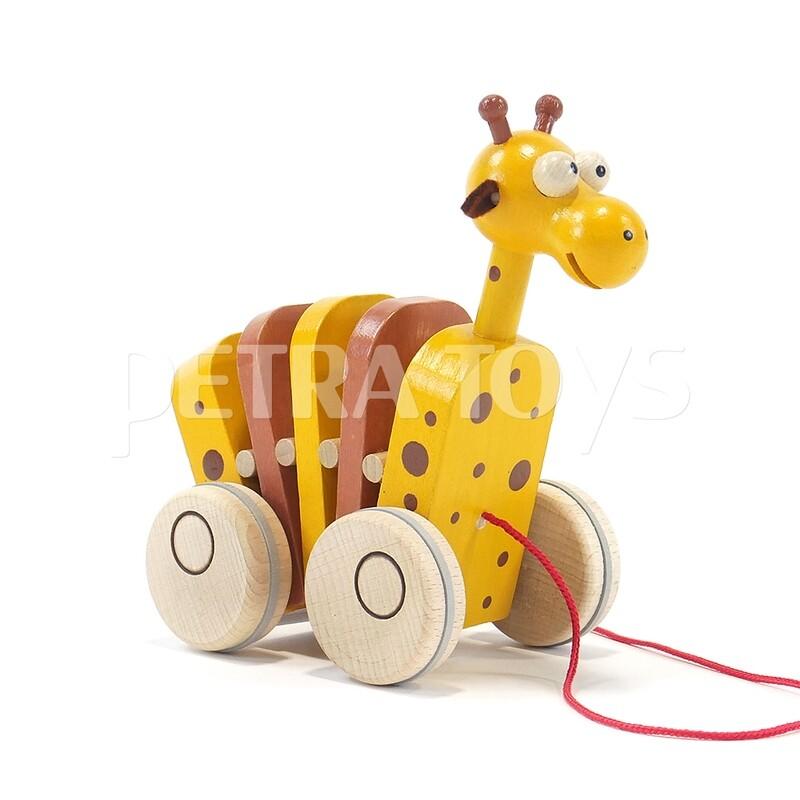 Rocking Giraffe Pull-Along Toy