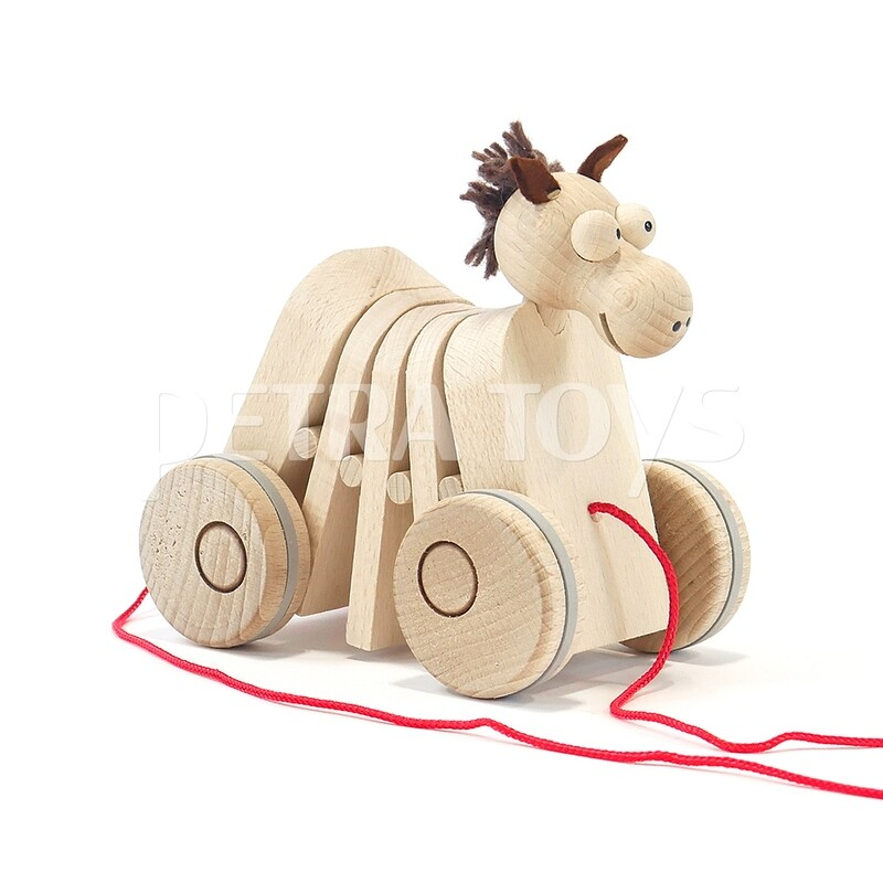 Rocking Horse Pull-Along Toy - Natural