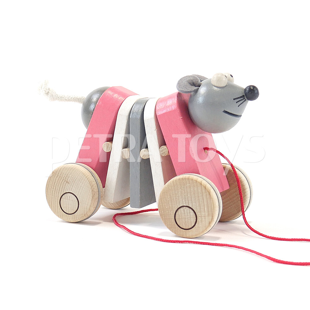 Rocking Mouse Pull-Along Toy