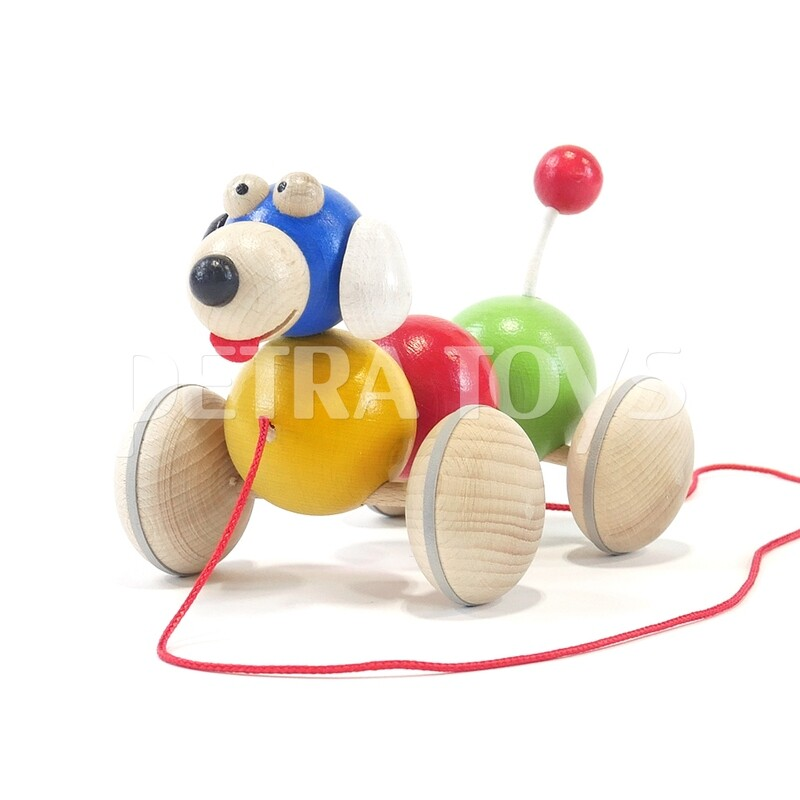 Wiggling Dog Pull-Along Toy