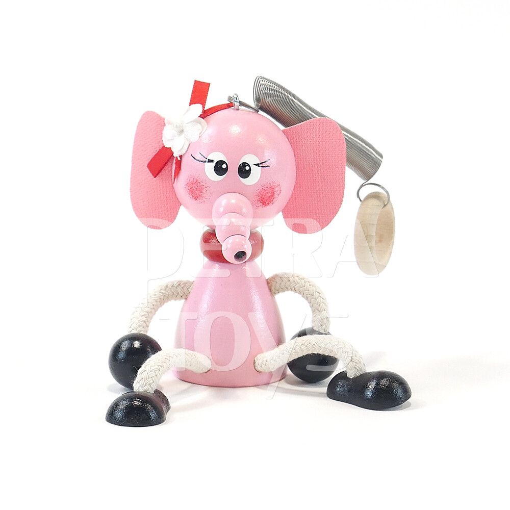 Pink Piggy Bouncing Mobile