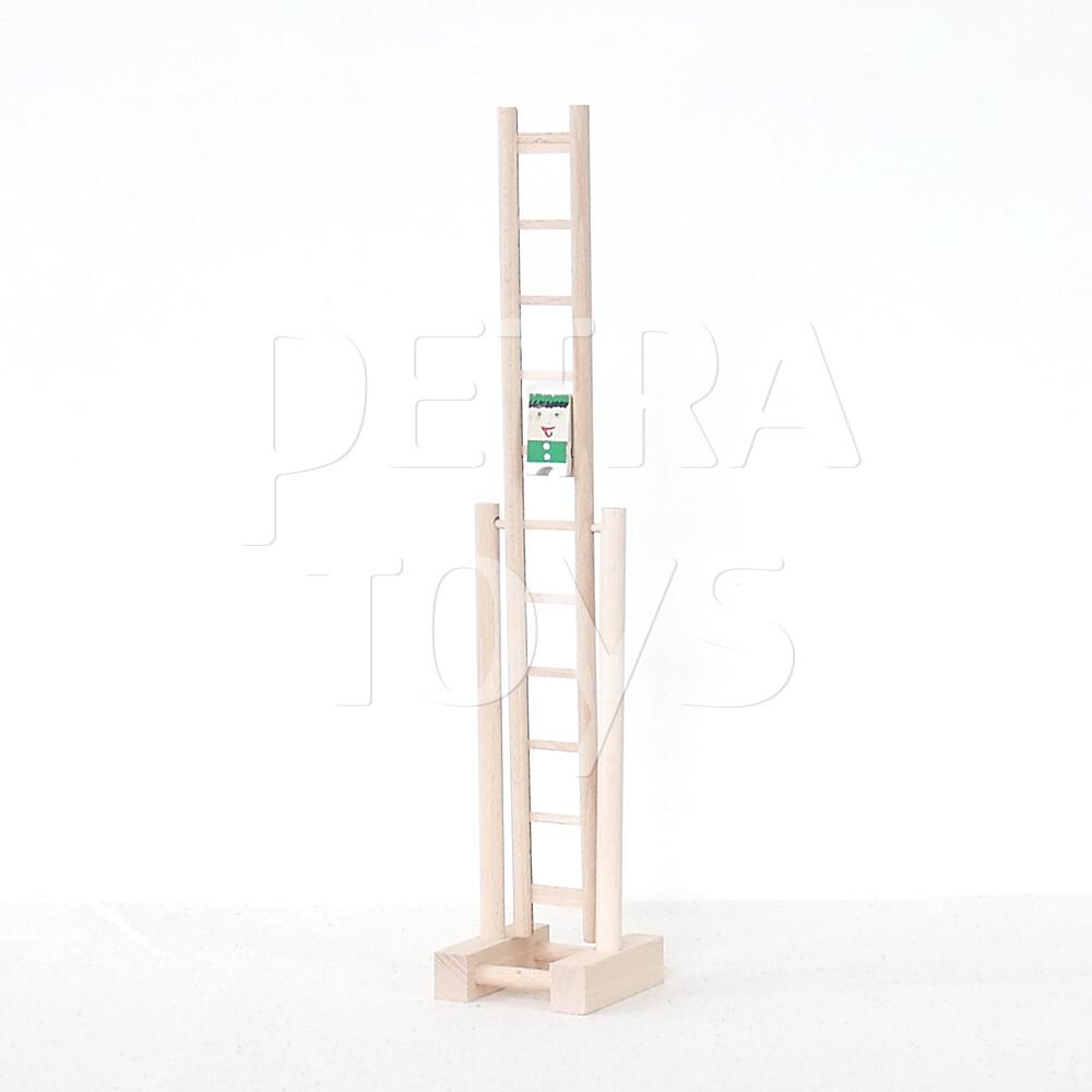 Clown on Rotary Ladder - Green