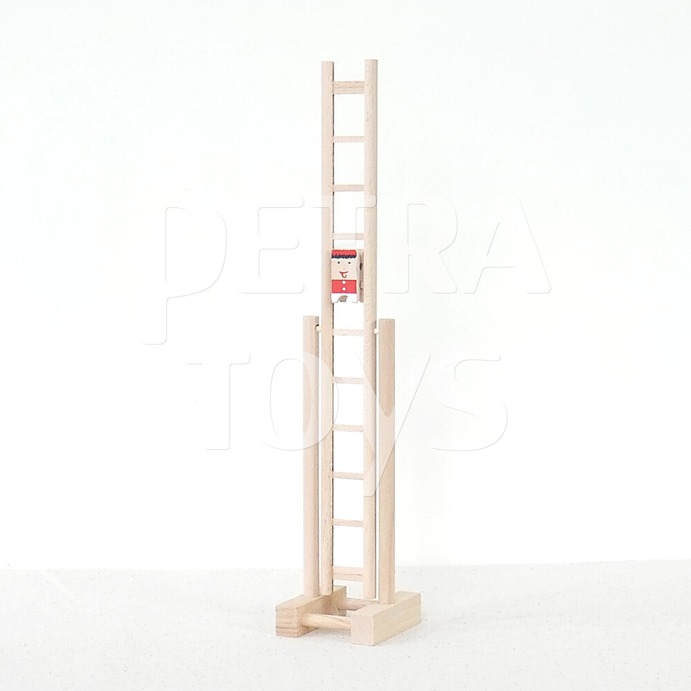 Clown on Rotary Ladder - Red