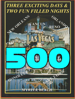 500 Full Color Printed Vacation Certificates