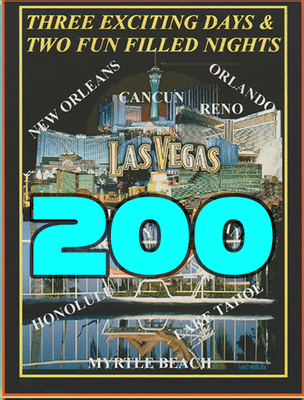 200 Full Color Printed Vacation Certificates