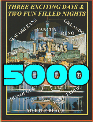 5,000 Full Color Printed Vacation Certificates