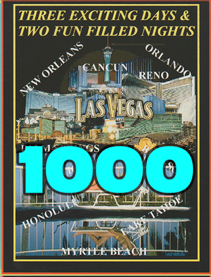 1,000 Full Color Printed Vacation Certificates